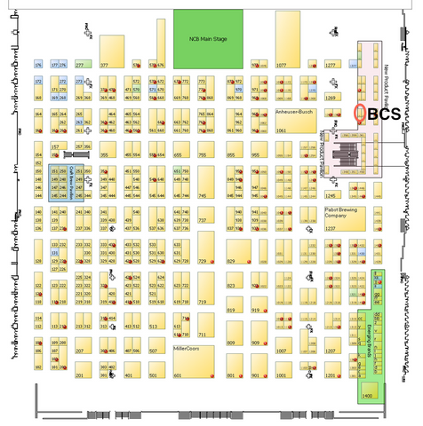 Nightclub and Bar Trade Show Map