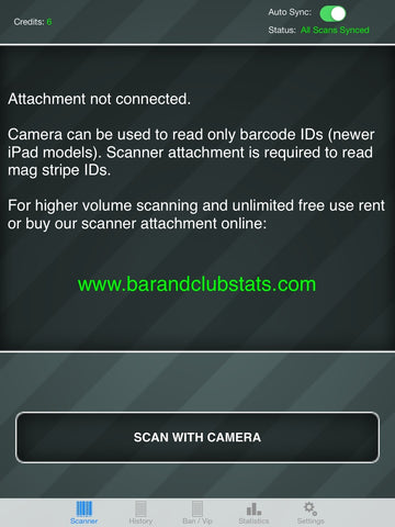iPad ID Scanner