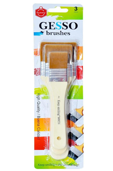 Gesso brush set of 3 brushes