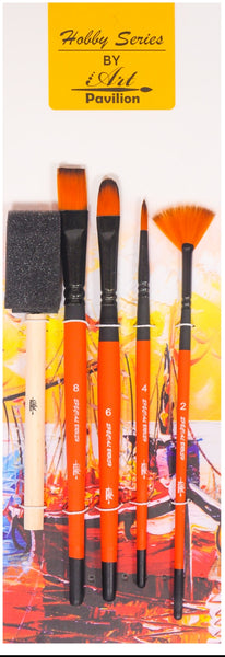 MIX MEDIA BRUSH SET OF 5PCS.