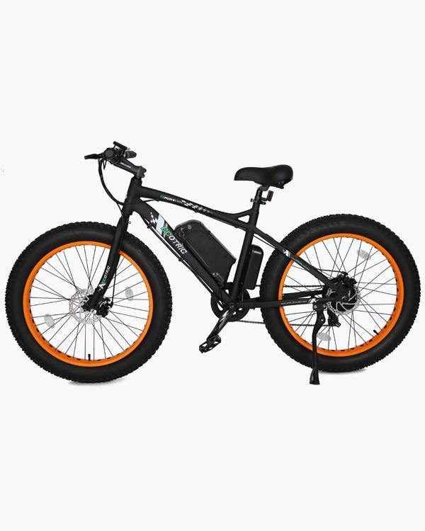 Ecotric Fat Tire Beach and Snow 500W Orange Rim Electric Bike - Electric Bikes For All