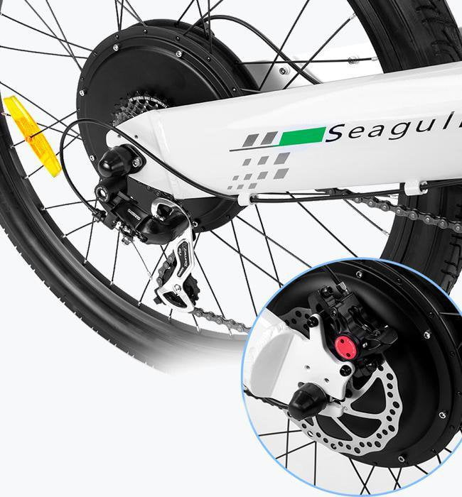 Ecotric Seagull 1000W White Electric Mountain Bike - Electric Bikes For All