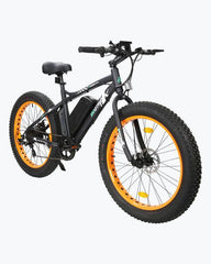 Ecotric Fat Tire Beach and Snow 500W Orange Rim Electric Bike