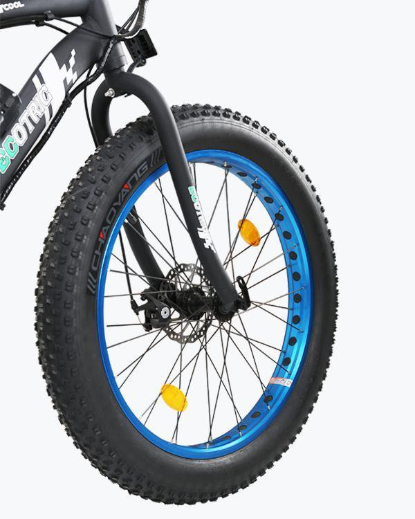 Ecotric Fat Tire Beach and Snow 5000W Blue Rim Electric Bike - Electric Bikes For All