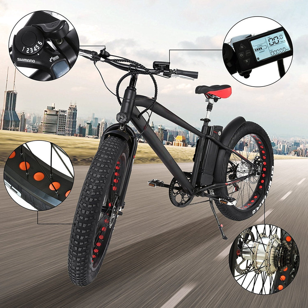 "Nakto Cruise 26"" Fat Tire Electric Bike - Electric Bikes For All"