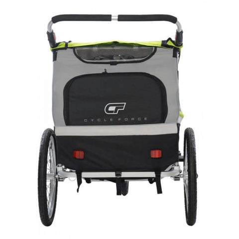 NA Cycles C23 Double Child 3-In-1 Bicycle Trailer, Jogger, Stroller CF-BT509A - Electric Bikes For All