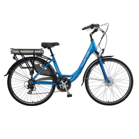 Hollandia Evado 7.18 700C Step-Through Blue Electric Bike - Electric Bikes For All