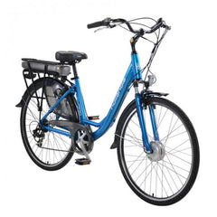 Hollandia Evado 7.18 700C Step-Through Blue Electric Bike