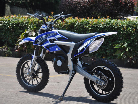 MotoTec 36v 500w MT-Dirt-Lithium_Blue Electric Dirt Bike - Electric Bikes For All