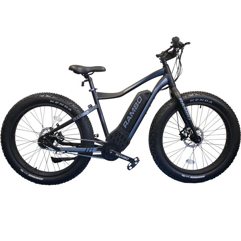 Rambo G4 MATTE BLACK & CHARCOAL R750 - Electric Bikes For All