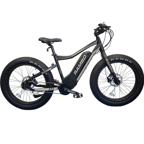 Rambo G4 MATTE BLACK & TAN R750 - Electric Bikes For All