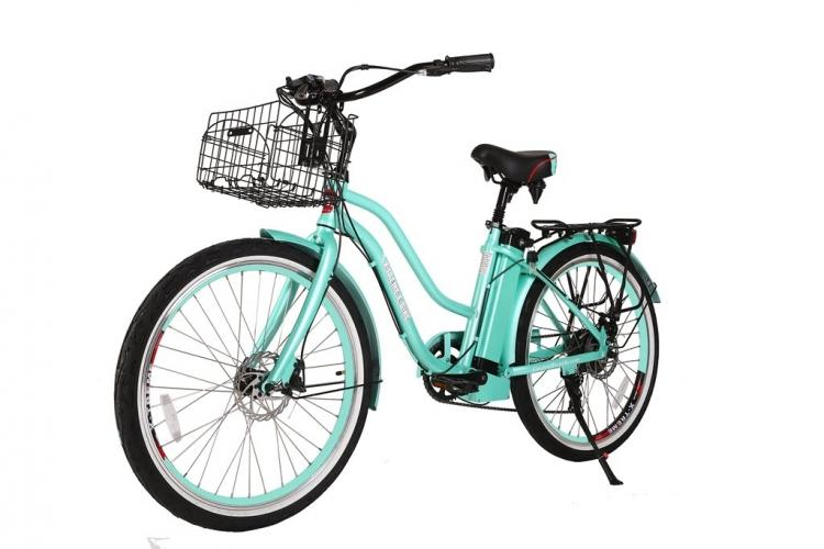 X-Treme Malibu Elite Step-Through Beach Cruiser Electric Bicycle - Electric Bikes For All