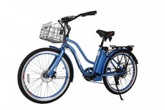X-Treme Malibu Elite Step-Through Beach Cruiser Electric Bicycle