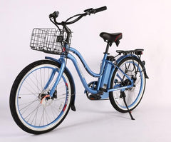 X-Treme Malibu Elite Max 36 Volt Step-Through Electric Beach Cruiser E-Bike