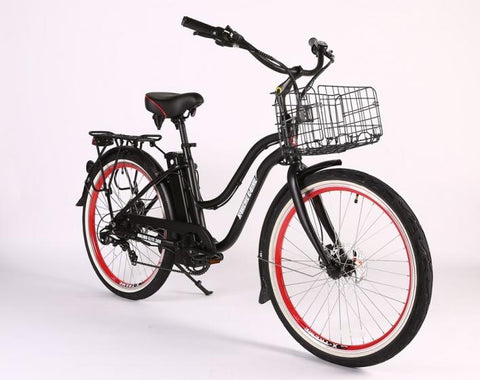 X-Treme Malibu Elite Max 36 Volt Step-Through Electric Beach Cruiser E-Bike - Electric Bikes For All