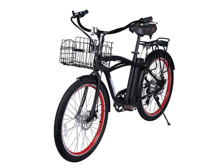 X-Treme Newport Elite Electric Beach Cruiser Bicycle - Electric Bikes For All