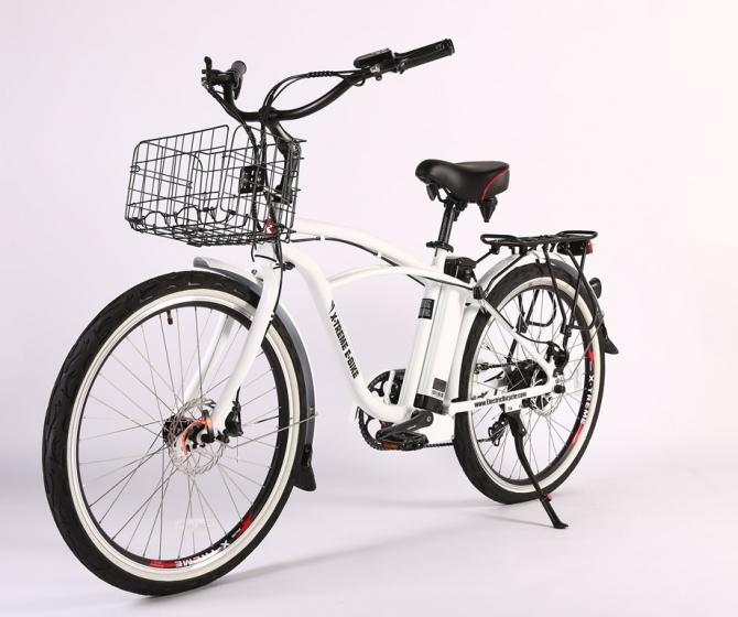 X-Treme Newport Elite Max 36 Volt Electric Beach Cruiser Bicycle - Electric Bikes For All