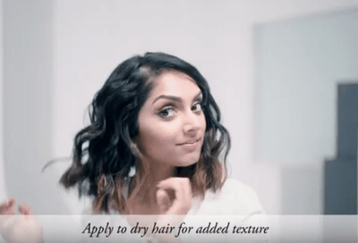 How to Create Messy Textured Waves hair tutorial using Matte Waves Texture Lotion by Oribe Haircare