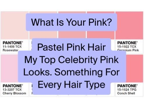 Celebrity Pink Hair Looks graphic