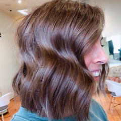 brunette hair with waves