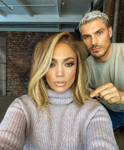 J Lo long bob haircut and balayage