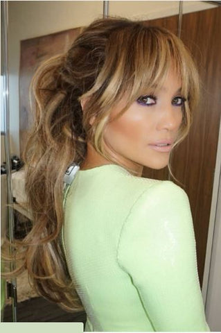 J Lo curtain bangs