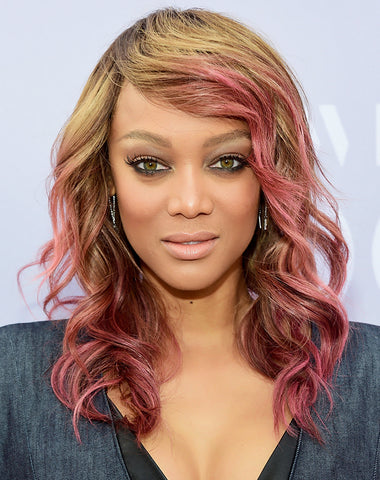 Tyra Banks pink ombre