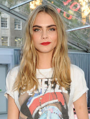 Cara Delevingne with long golden blonde hair