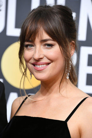 Dakota Johnson curtain fringe