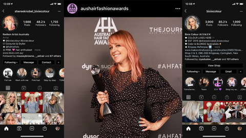 Sheree Knoble instagram influencer award