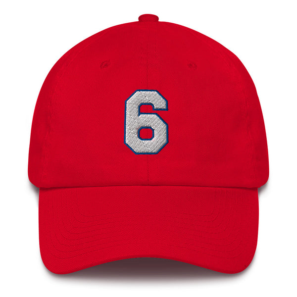 Julius Erving #6 Dad Hat-Player Number Hat-Coverage Gear