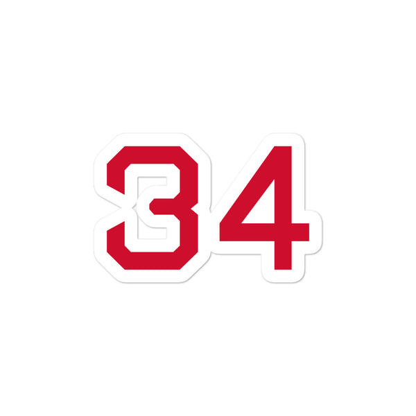 David Ortiz #34 Sticker