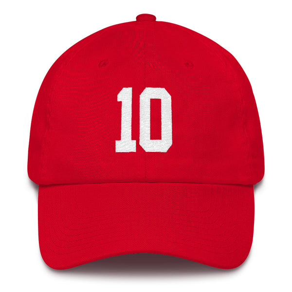Jimmy Garoppolo #10 Dad Hat-Player Number Hat-Coverage Gear