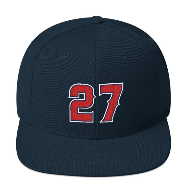 Mike Trout #27 Snapback Hat-Player Number Hat-Coverage Gear