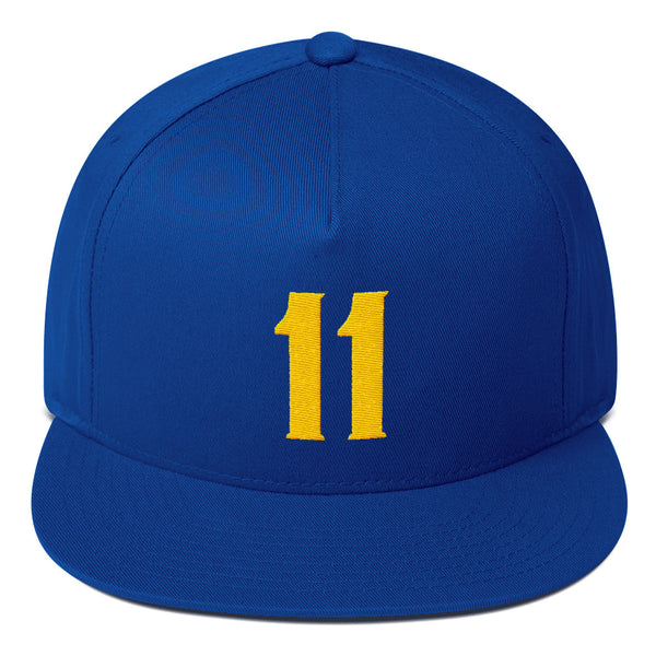 Klay Thompson #11 Flat Bill Snapback-Player Number Hat-Coverage Gear