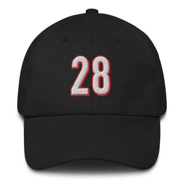 Joe Mixon #28 Dad Hat-Player Number Hat-Coverage Gear