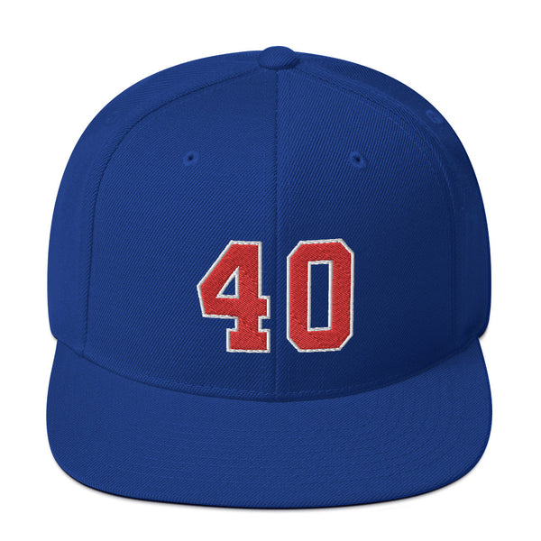 Bill Laimbeer #40 Snapback Hat-Player Number Hat-Coverage Gear