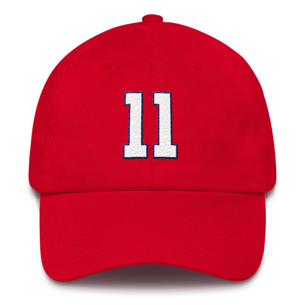 Ryan Zimmerman #11 Dad Hat-Player Number Hat-Coverage Gear