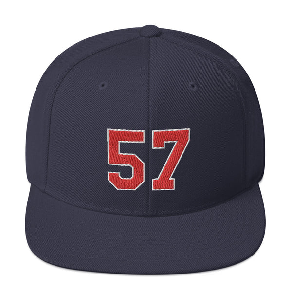 Ervin Santana #57 Snapback Hat-Player Number Hat-Coverage Gear