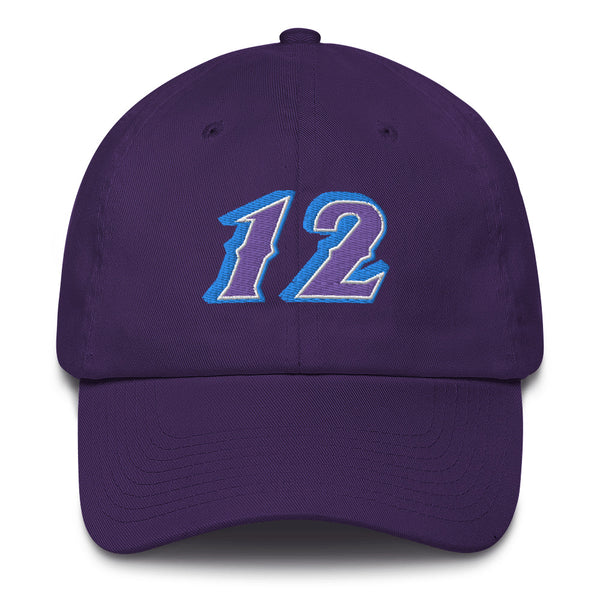 John Stockton #12 Dad Hat-Player Number Hat-Coverage Gear