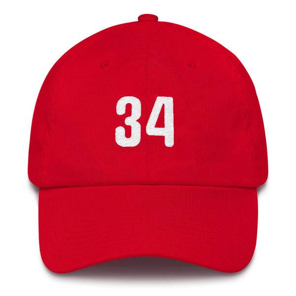 Roy Halladay #34 Dad Hat-Player Number Hat-Coverage Gear