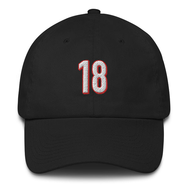 A.J. Green #18 Dad Hat-Player Number Hat-Coverage Gear
