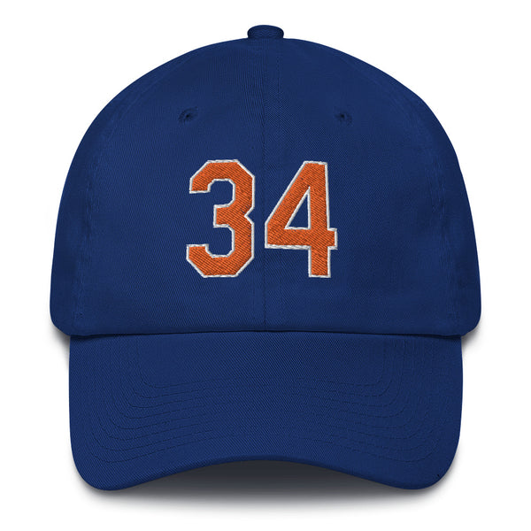 Noah Syndergaard #34 Dad Hat-Player Number Hat-Coverage Gear