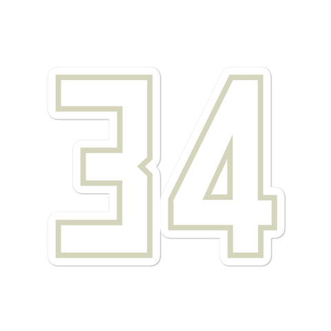 Giannis Antetokounmpo #34 Sticker