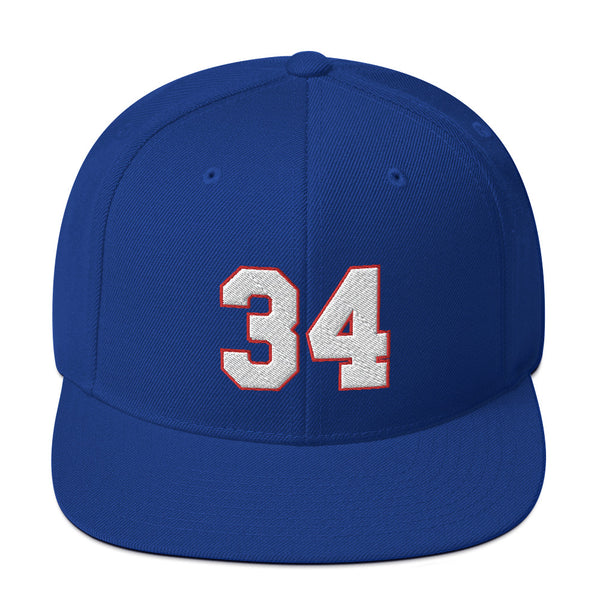 Thurman Thomas #34 Snapback Hat-Player Number Hat-Coverage Gear