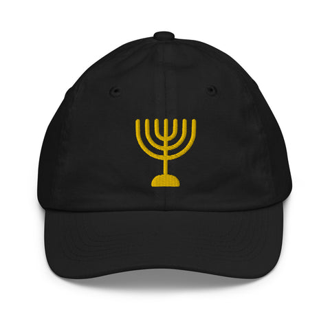 Hanukkah Menorah Youth Size Cap