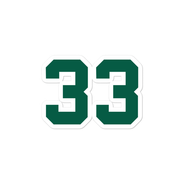 Larry Bird #33 Sticker