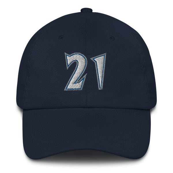 Kevin Garnett #21 Dad Hat-Player Number Hat-Coverage Gear