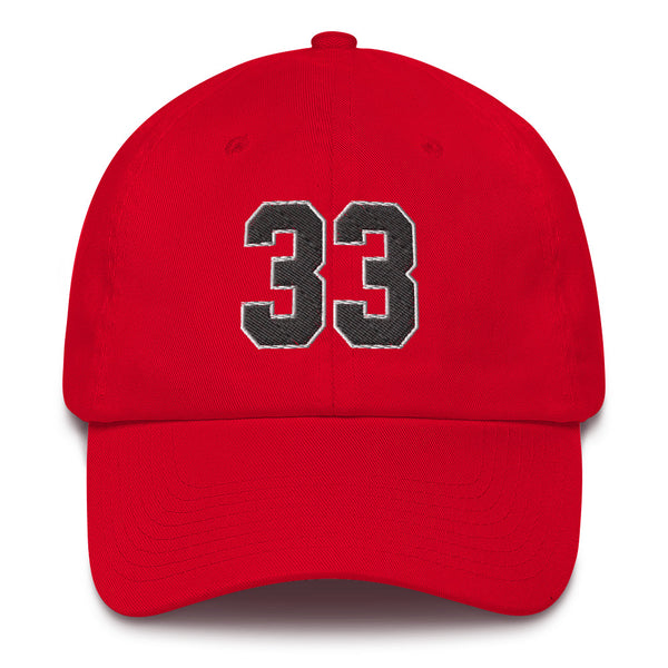 Scottie Pippen #33 Dad Hat-Player Number Hat-Coverage Gear