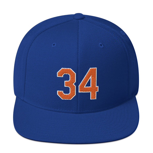 Noah Syndergaard #34 Snapback Hat-Player Number Hat-Coverage Gear